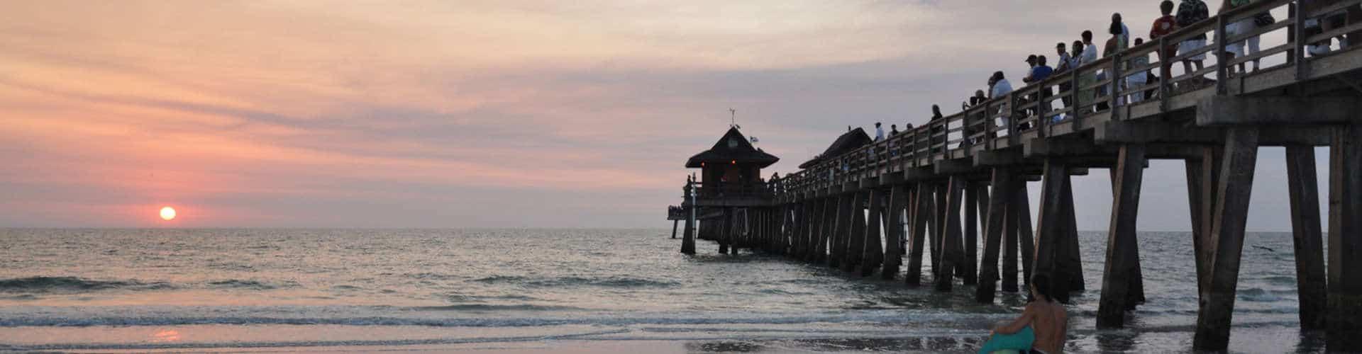 Naples Pier sunset photo
